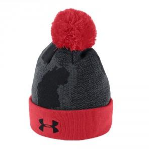 BONNET JUNIOR POMPOM NOIR - UNDER ARMOUR