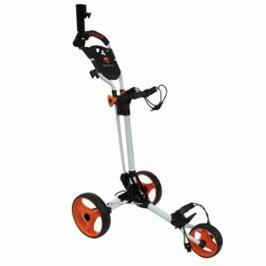 CHARIOT DE GOLF COMPACT BLANC/ORANGE - GREEN'S