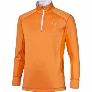 Polo 1/2 Zip junior orange - PUMA