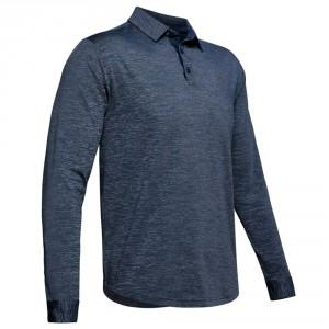 POLO PLAYOFF 2.0 CHINE BLEU - UNDER ARMOUR