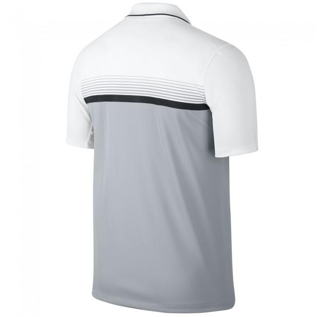 polo ray momentum gris blanc nike polos t shirts vetements golf discounter. Black Bedroom Furniture Sets. Home Design Ideas