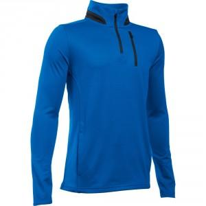 SWEAT ENFANT 1/2 ZIP BLEU - UNDER ARMOUR